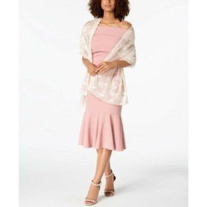 I.N.C. Blossom Shadow Evening Wrap, Pink, One Size